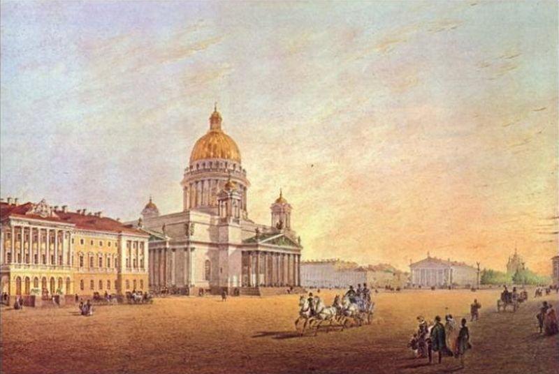 Садовников. Вид площади между Адмиралтейством и Исаакиевским собором
