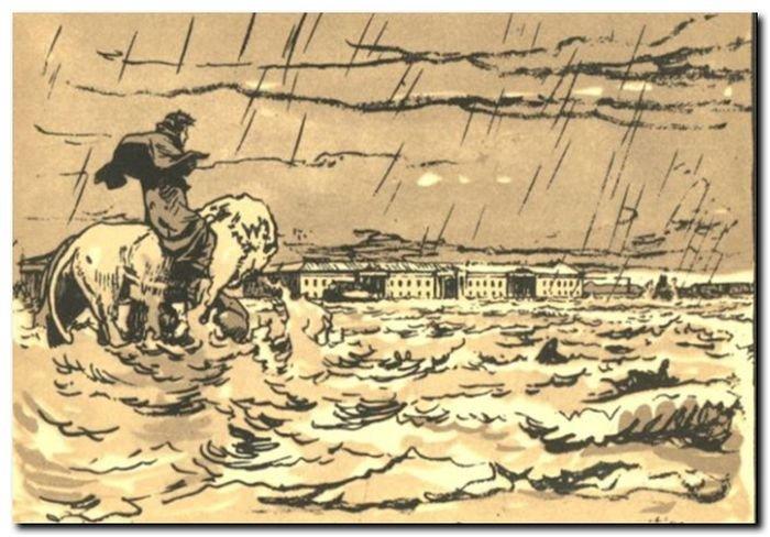 Иллюстрация к Медному всаднику