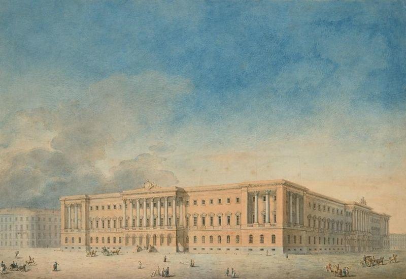 Вид на дворец Лобанова-Ростовского, XIX век